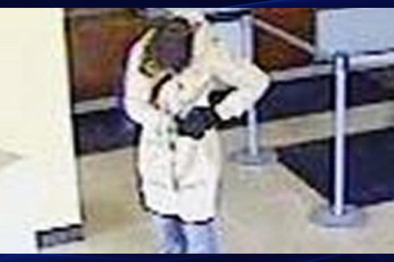 Latasha Gamble in disguise during the robbery