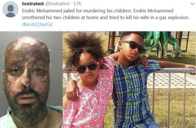 Endris Mohammed and his two children