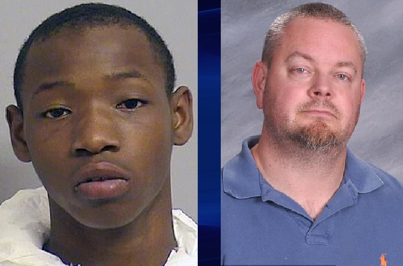 Deonte James Green and victim Shane Anderson (R)