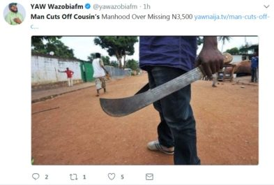 Type of machete was used in the attack