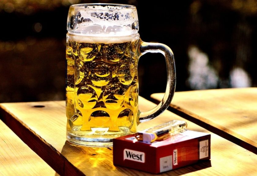 Beer and cigarettes (illustration)