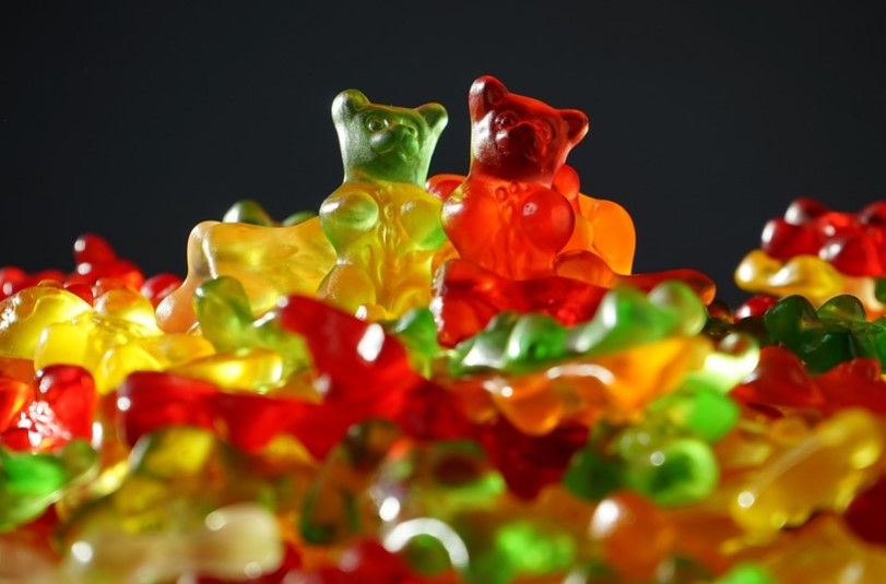Marijuana gummy bears (illustration)