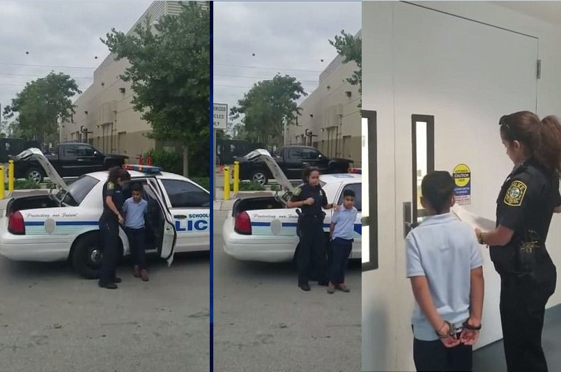 7-year-old boy arrested and handcuffed