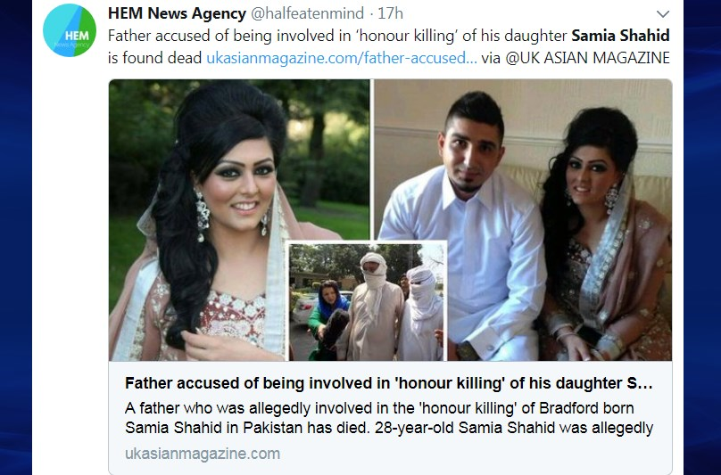Samia Shahid and her second husband, father, and ex-husband arrested (insert)