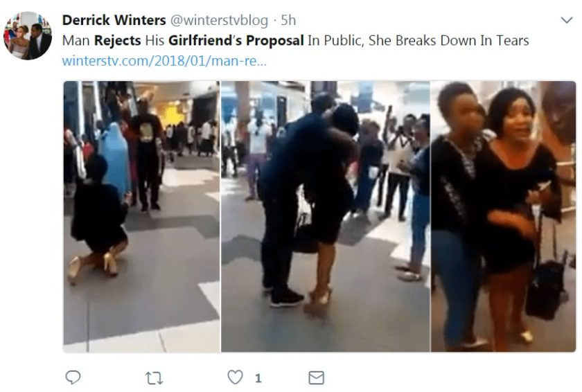 Woman Left Humiliated After Boyfriend Rejected Her Marriage Proposal