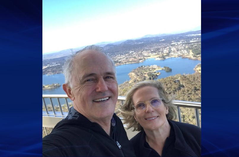 Malcolm Turnbull with his wife Lucy