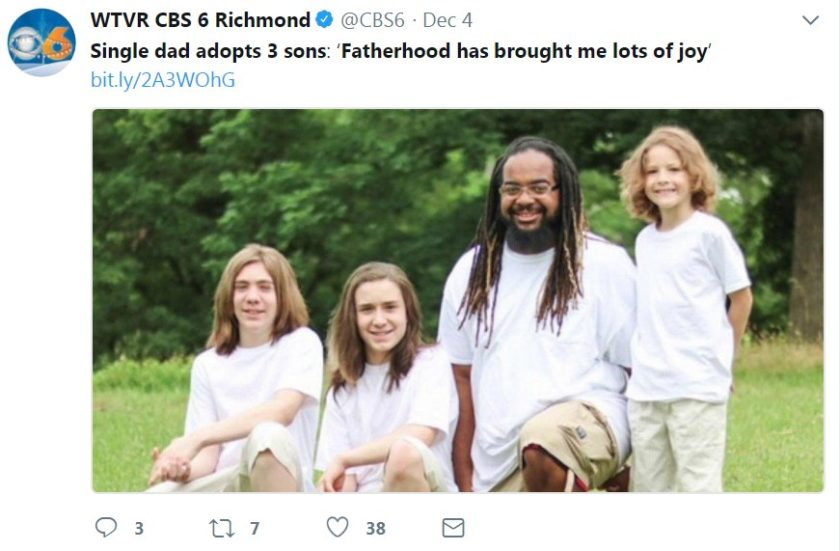 Single African American man adopts 3 white children | WorldWide